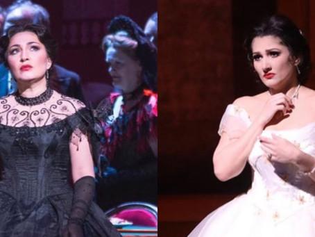 Kristina Mkhitaryan and Dinara Alieva in La Traviata at The Royal Opera House