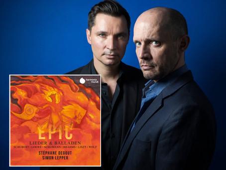 """Stéphane Degout: """"Epic: Lieder & Balladen"""""""