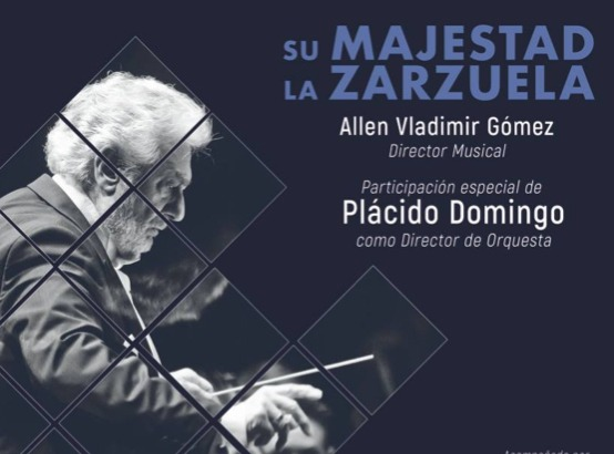 Maestro Plácido Domingo conducts