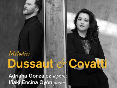 "Adriana Gonzalez: ""Dussaut - Covatti: Mélodies"""