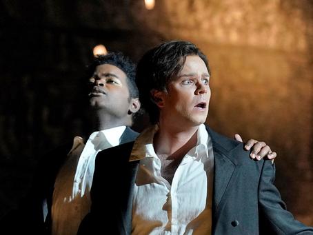 John Holiday and Joshua Hopkins in Eurydice at the LA Opera