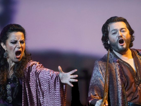 Nancy Fabiola Herrera and Arturo Chacón Cruz in Il Trovatore at Ópera de las Palmas