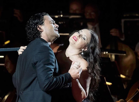 Sonya Yoncheva and Maestro Plácido Domingo at Arena di Verona