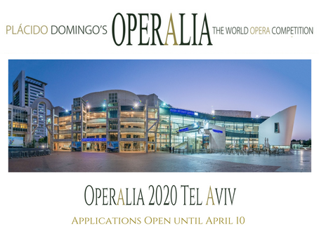 Applications for Operalia Tel Aviv 2020 are open until April 10