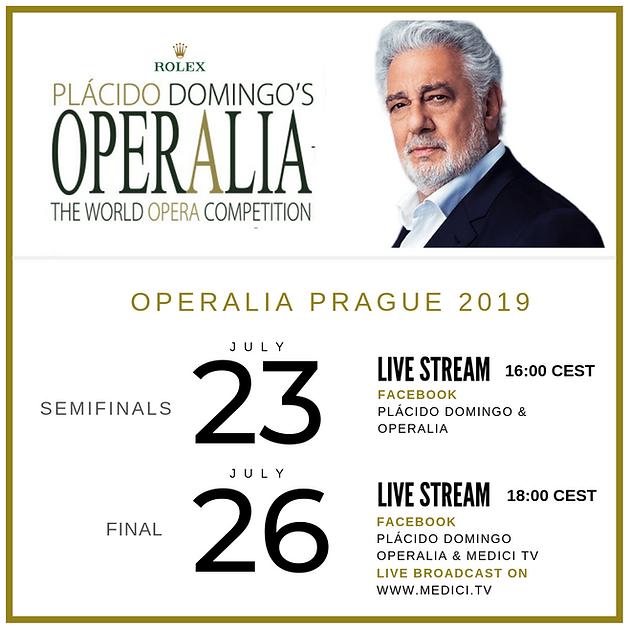 Operalia Prague 2019 Live Stream Calendar