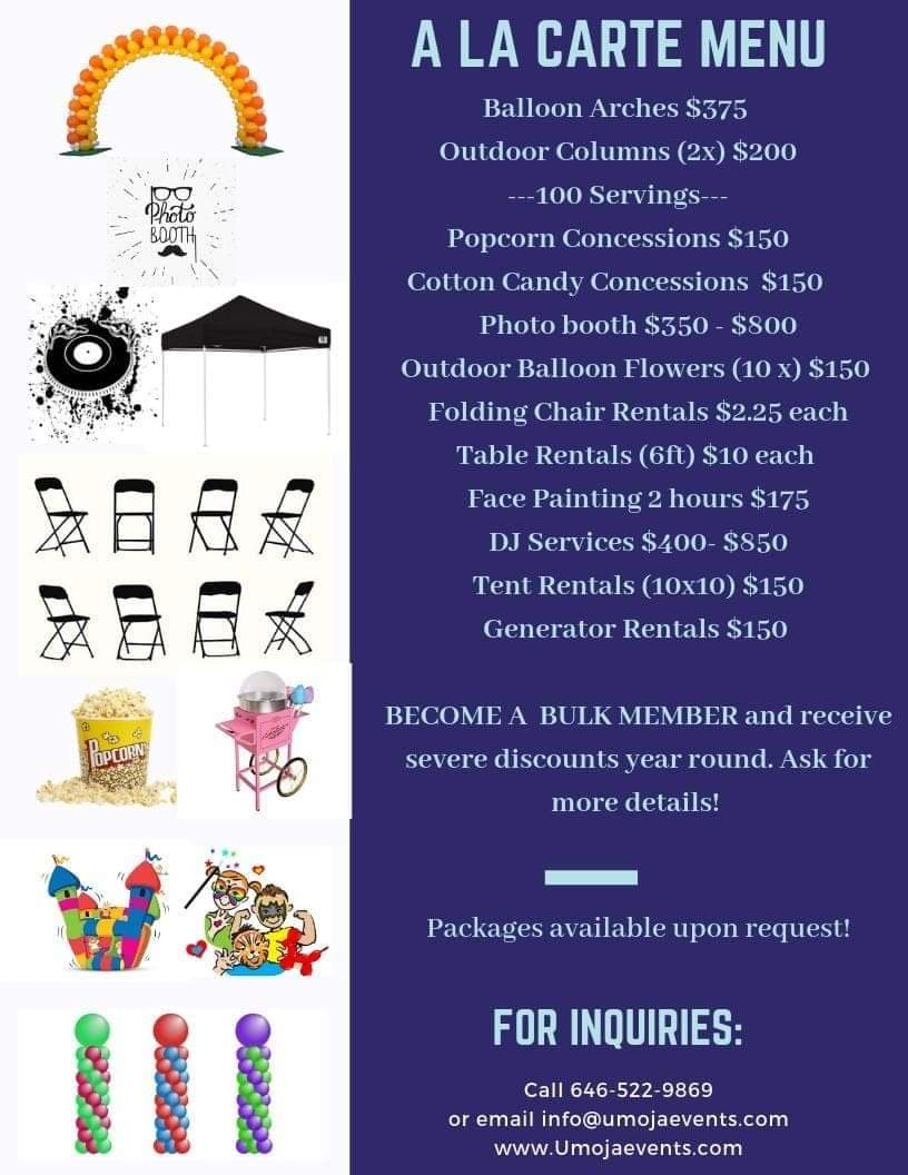 Summer Packages | Umoja Events and Balloon Decor