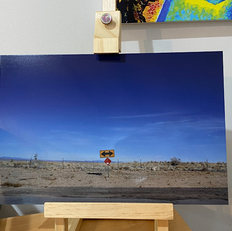 Metal Print Which Way?, New Mexico 2018