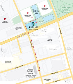 Artists' Guild Spartanburg Map
