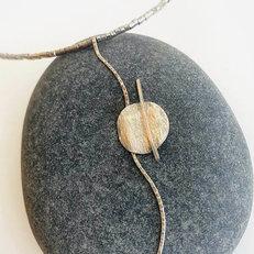 Artistic Silver Pendant Necklace