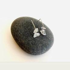 Quartz Drop Stud earrings