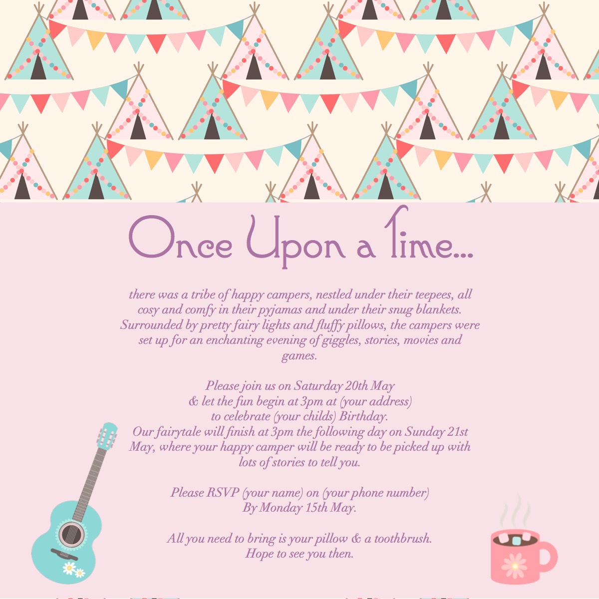 once upon a time sleep over partiesinvite2