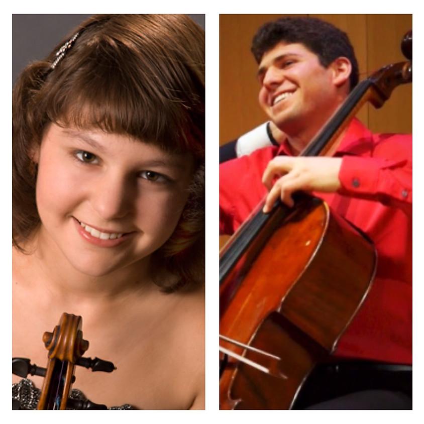 Young Violin/Cello Virtuosi Ilana Zaks and Eric Zaks with Dina Vainshtein, Piano