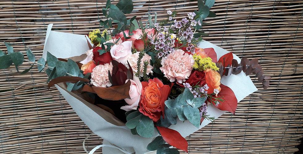 Bouquet colorato + vaso