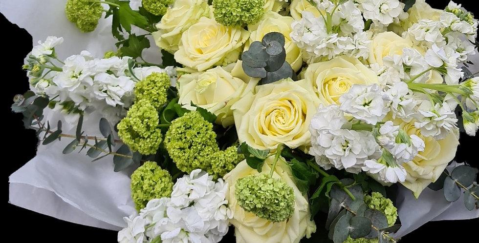 Bouquet Daniela bianco e verde