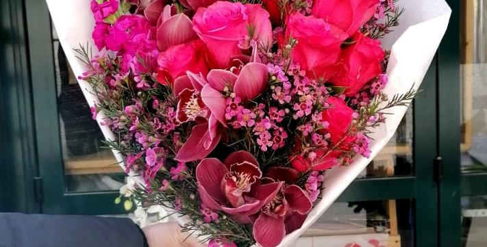 Mazzo di fiori luxury fucsia