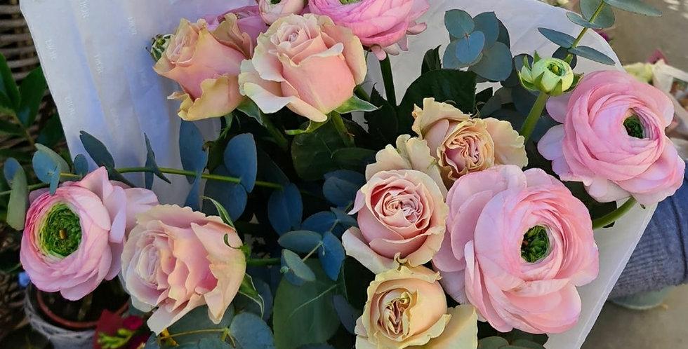 Bouquet rosa delicato