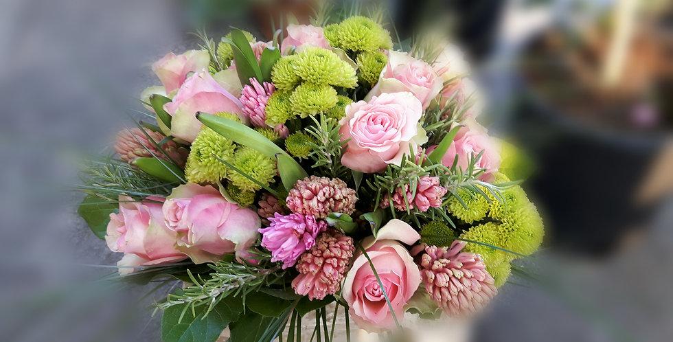 Bouquet giacinti e rose