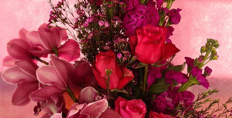 Mazzo di fiori fuxia