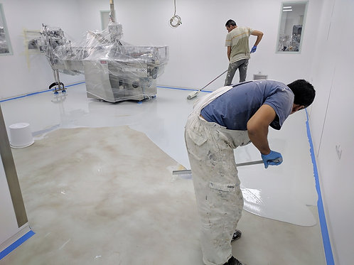 Appying of 2 coat of epoxy floor coating (rate according to the type of coating)