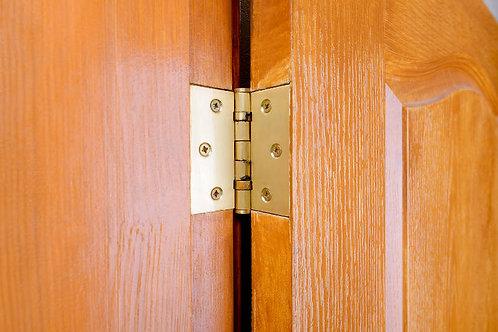 Hinge Installation (Including door dismantling)