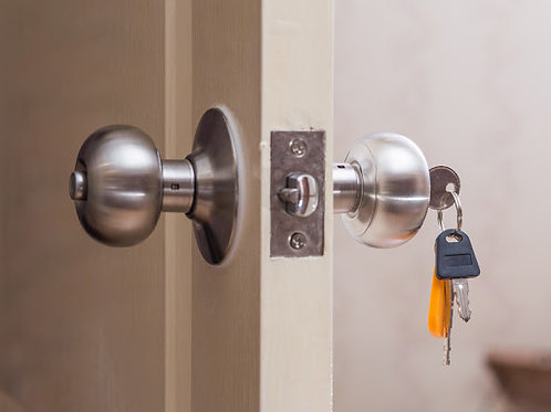 Door lock replacement ( replacing existing lock with the new lock )