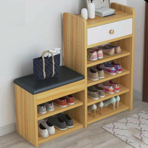 Shoe rake/book shelf assembly( modular furniture only)
