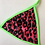 Thumbnail: THATS SO.. CERISE CHEETAH GREEN BRA