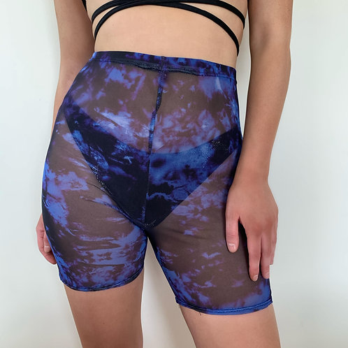 THATS SO.. OUT OF THIS GALAXY BLUE MESH SHORTS