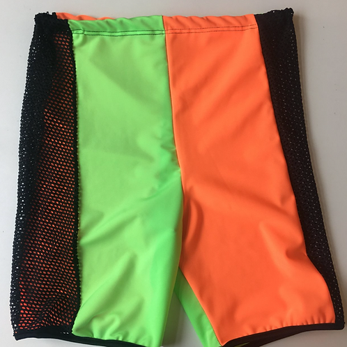 THATS SO.. CHECKED OUT IN HIGH VIZ MESH CYCLING SHORTS
