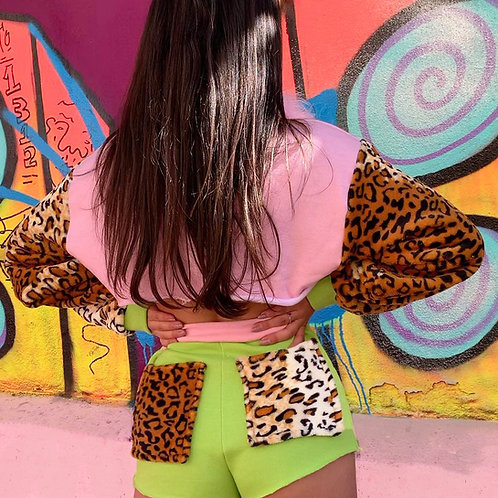 THATS SO..  THE LIME LEOPARD SHERBET SHORTS