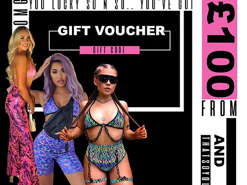 THATS SO.. A £100 GIFT CODE