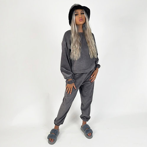 THATS SO.. THE GREY COMFY CORDUROY SET