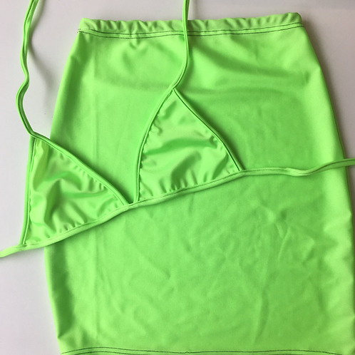 THATS SO.. PLAINLY LIME SKIRT CO-ORD