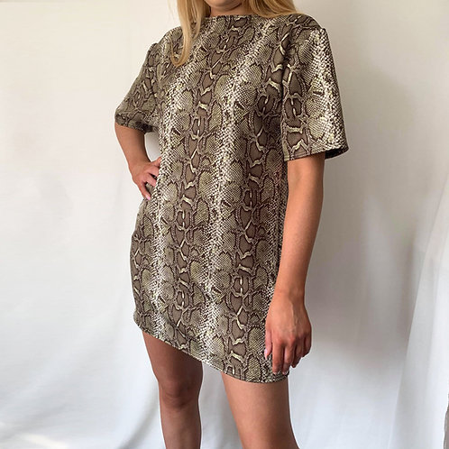 THATS SO.. SAGE SNAKE OVERSIZED T-DRESS