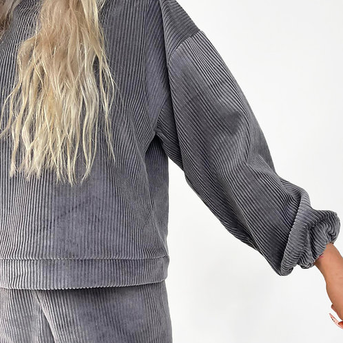 THATS SO.. THE GREY COMFY CORDUROY JUMPER