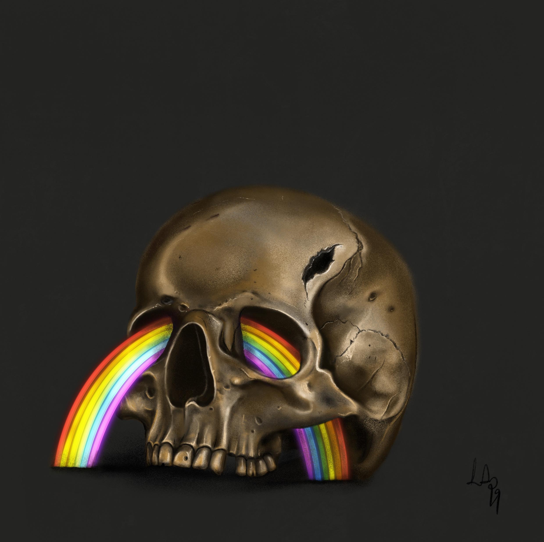 Ranibow skull