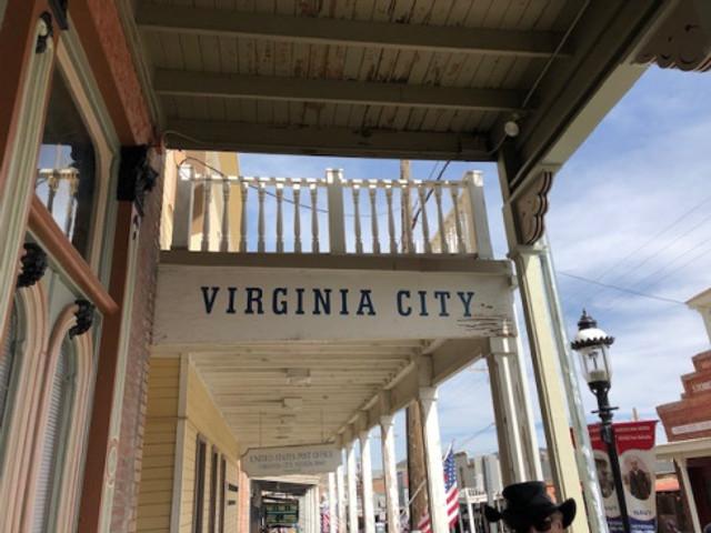 Virginia City sign