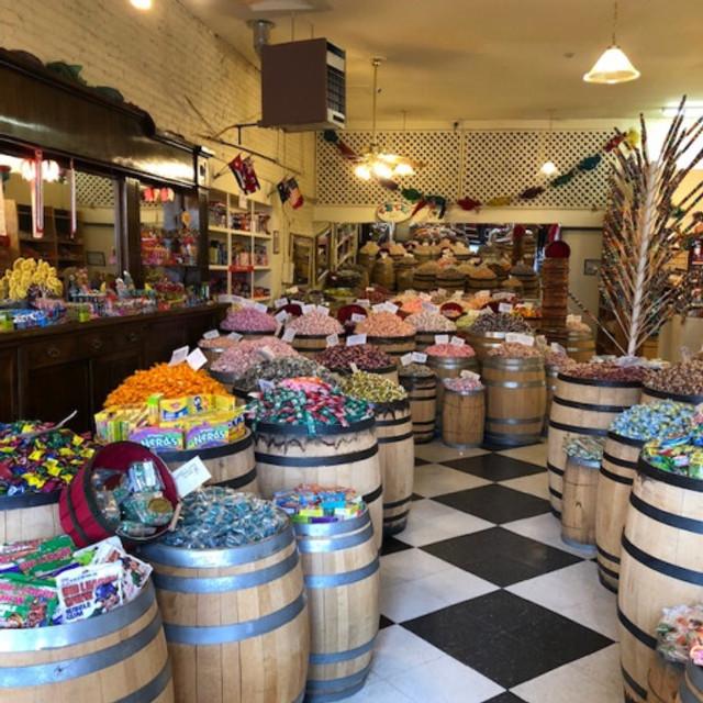 candy store barrels