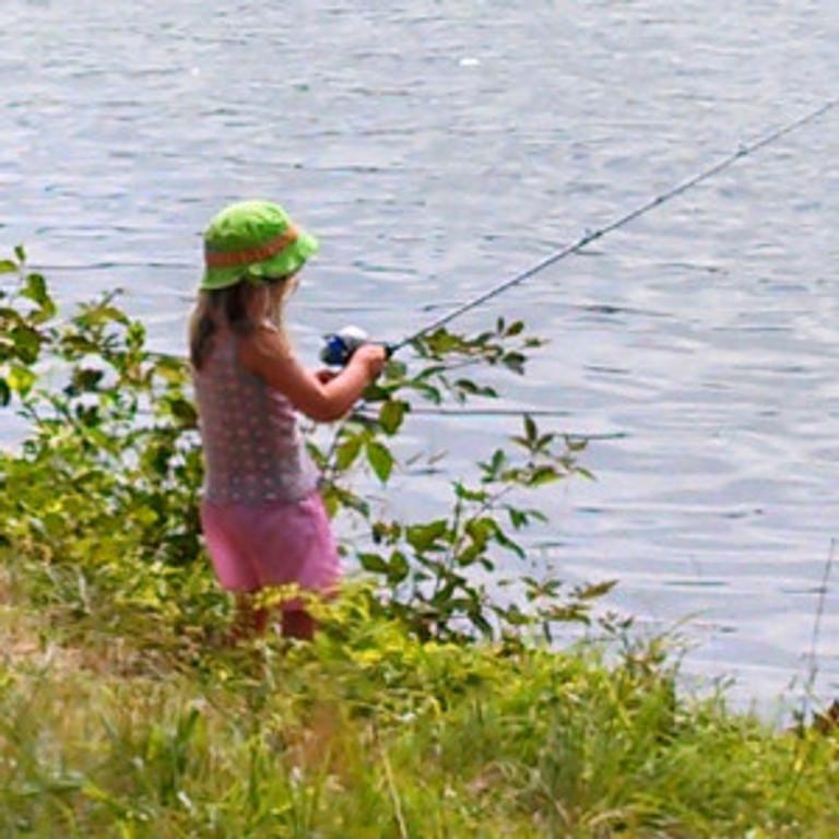 Pretty in pink girk fishing