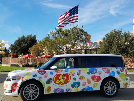 From the town with a thousand oaks to one with a thousand Jelly Bellies…nice!