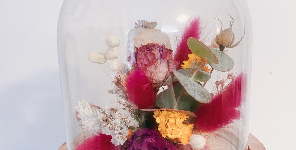 Globe fleuri personnalisé