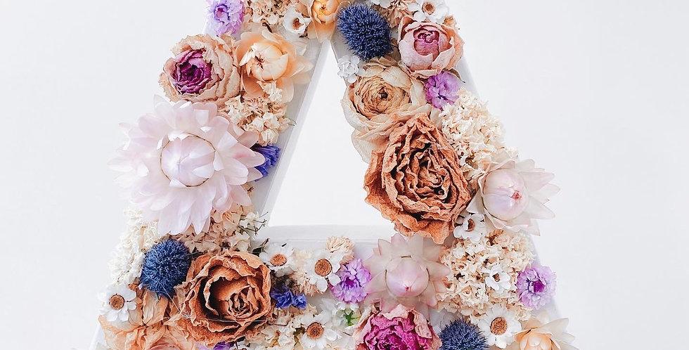 Lettre fleurie A comme ...