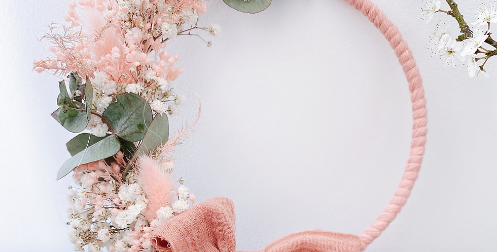 Couronne Rose pastel