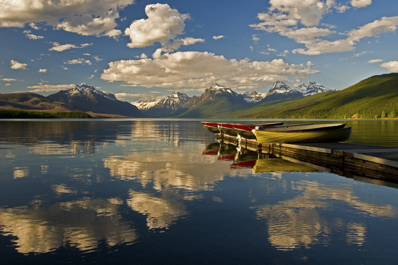 Boats At Lake McDonald