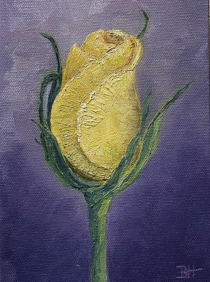 Yellow Rose, oil, 5x7-Bonnie Hautamaki.j