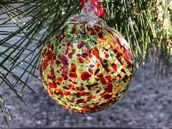 Blown Glass Ornament.