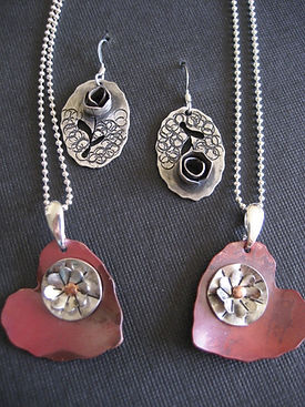Copper and Sterling Silver jewelry by Ma