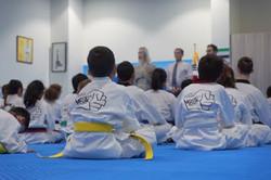 Kids class during Grand Master Kang's visit