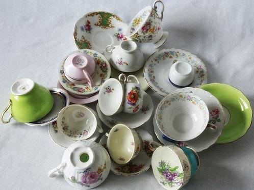 porcelain vintage cups