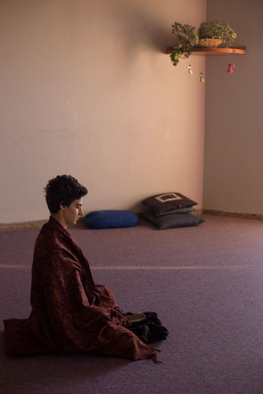 Raaya meditating